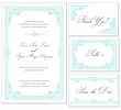 Vector Vintage Wedding Frame Set - for invitations or announceme