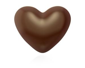 Heart shaped chocolate candy