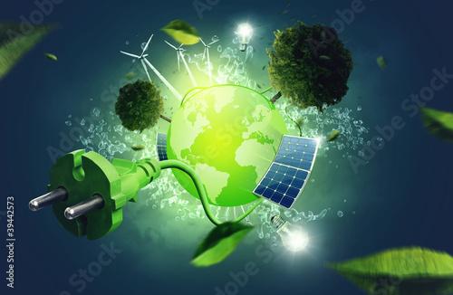 Leinwanddruck Bild Green Energy