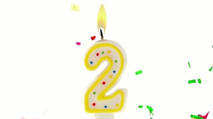 celebration number candle