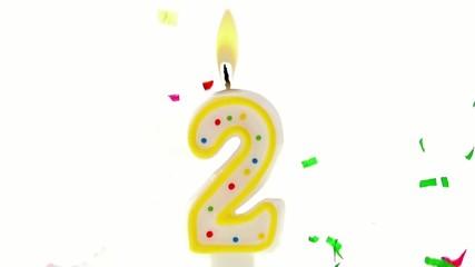 celebration number candle