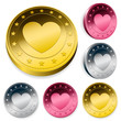 Coin Or Token Set With Heart