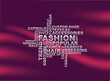 Fashion words background