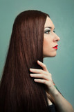 Woman with Healthy Long Hair. hairstyle