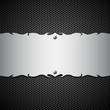 Vector metal modern plate steel background