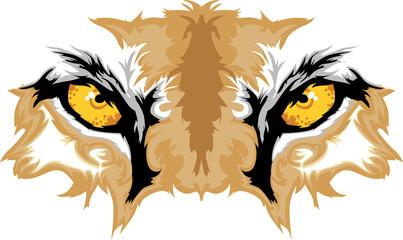 Cougar Eyes Mascot Graphic