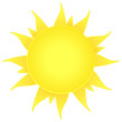 sun icon. nature symbol. summer beach