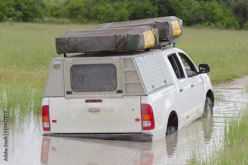 Straßen zur Regenzeit in Afrika