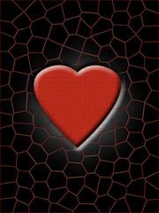 Herz abstrakt Liebe Billet Hintergrund
