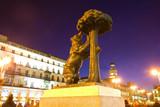 bear with strawberry tree - symbol of Madrid, Spain