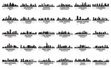 Fototapety Incredible set of USA city skyline. 30 cities.