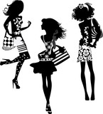 silhouette of a fashion women