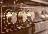 Old amp, grunge background