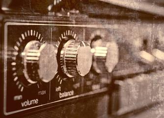Old amp, grunge background