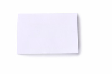 A blank on white