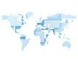 World map digital illustration