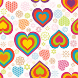 Vector illustration of a seamless heart pattern. Valentine's Day