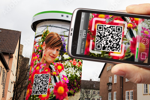 QR-code scanner on the smartphone
