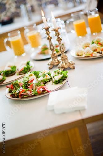 Covered table with canape