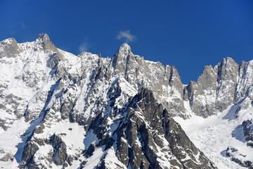 Courmayeur - gruppo del Monte Bianco e Dente del Gigante