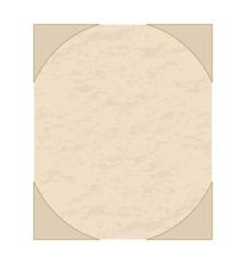 Vector illustartion of an old grunge sheet of  paper
