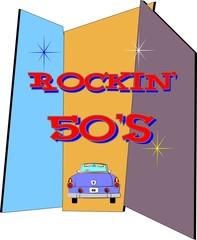 rockin 50's background pattern