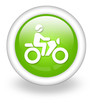 "Light Green Icon ""Motorbike Trail"""