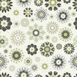flower seamless vector pattern.