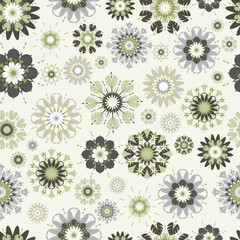flower seamless vector pattern.