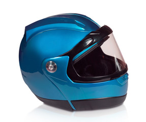 Motorcycle helmet light blue