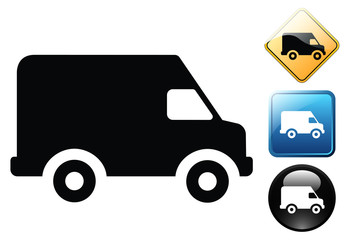 Van delivery pictogram and signs