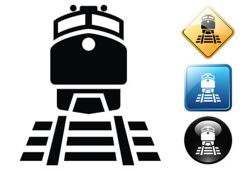 Train pictogram and icons