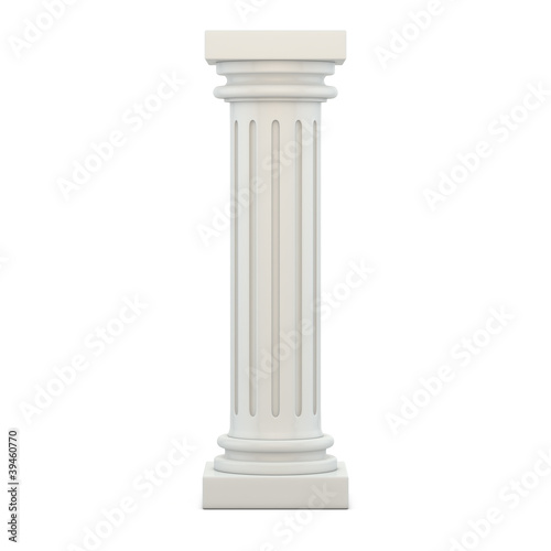 Classic Column 3d render illustration