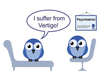 On the Psychiatric couch and vertigo phobia