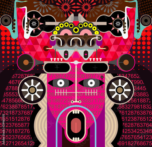 Abstract Graphic Art - vector illustration