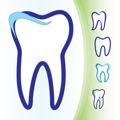 Tooth dental icons set