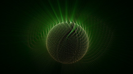 futuristic video animation with moving object and lights
