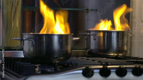 home disaster: food getting burnt in pot