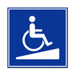 Señal acceso para minusvalidos