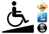 Handicapped accessible logo and icons