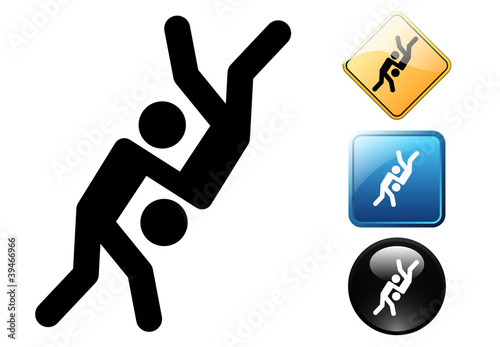 Judo pictogram and icons