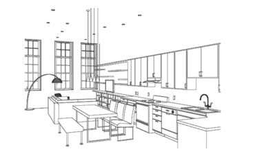 Interior Living Space - Kitchen/Dining