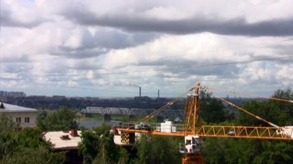 Time lapse of the Novosibirsk City Skyline