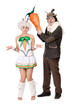 Funny couple with carrot