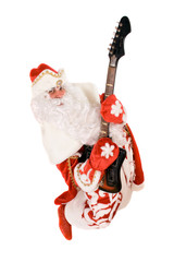 Mad Ded Moroz with a broken guitar