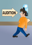 going into audition poster