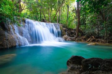 Waterfall in forest, Kanchanaburi, Thailand