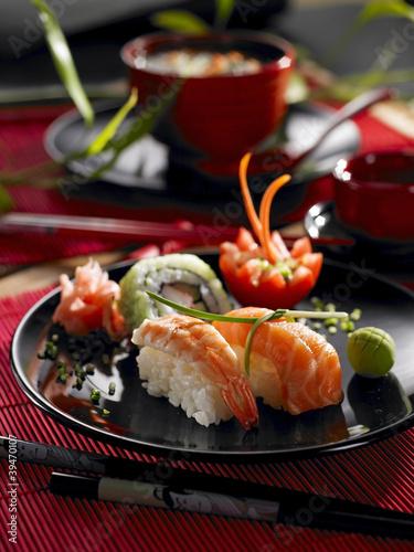Plakat Orientalne jedzenie