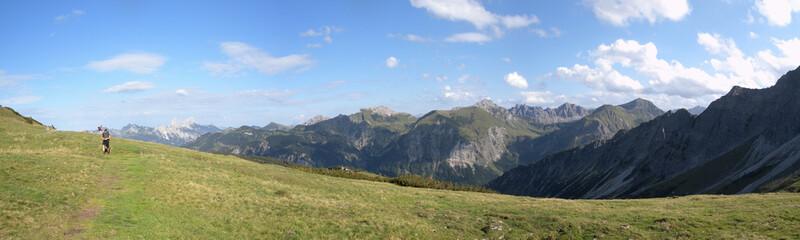 Fernsicht im Gebirge