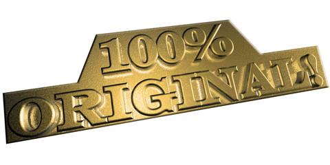 3D Goldschrift - 100 % ORIGINAL